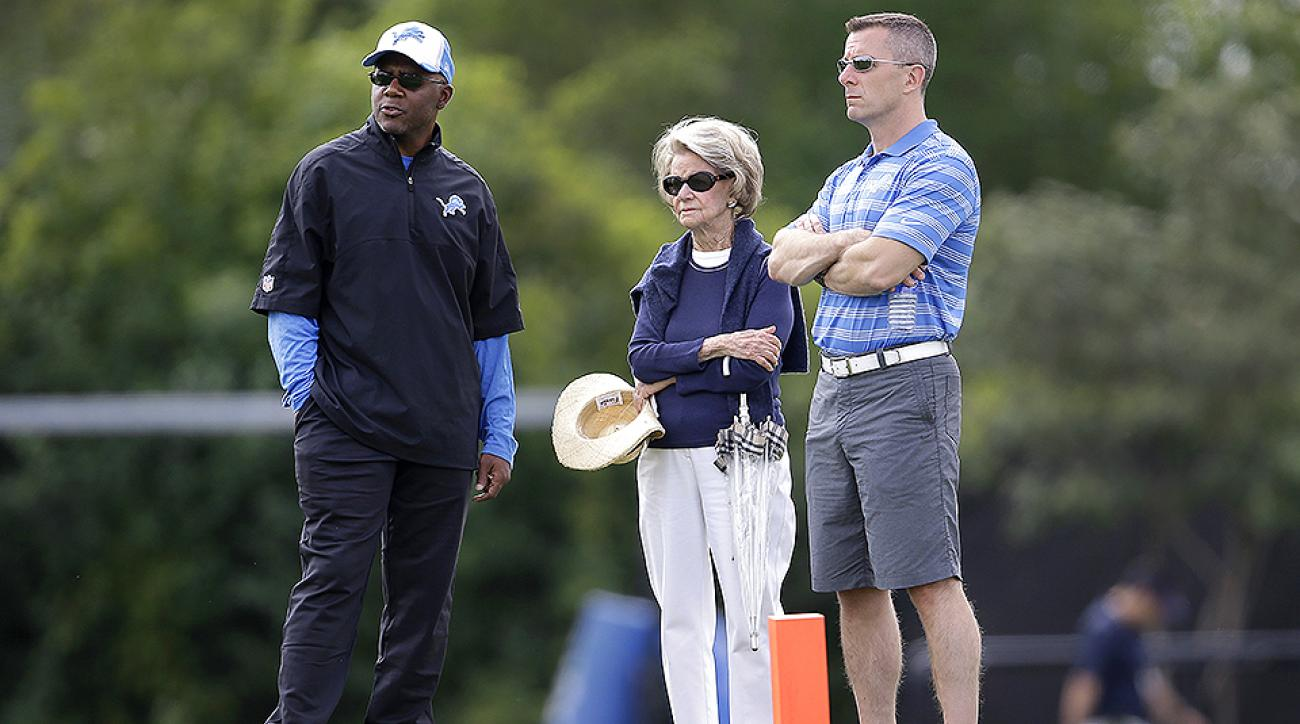 Martin Mayhew, Martha Ford and Tom Lewand