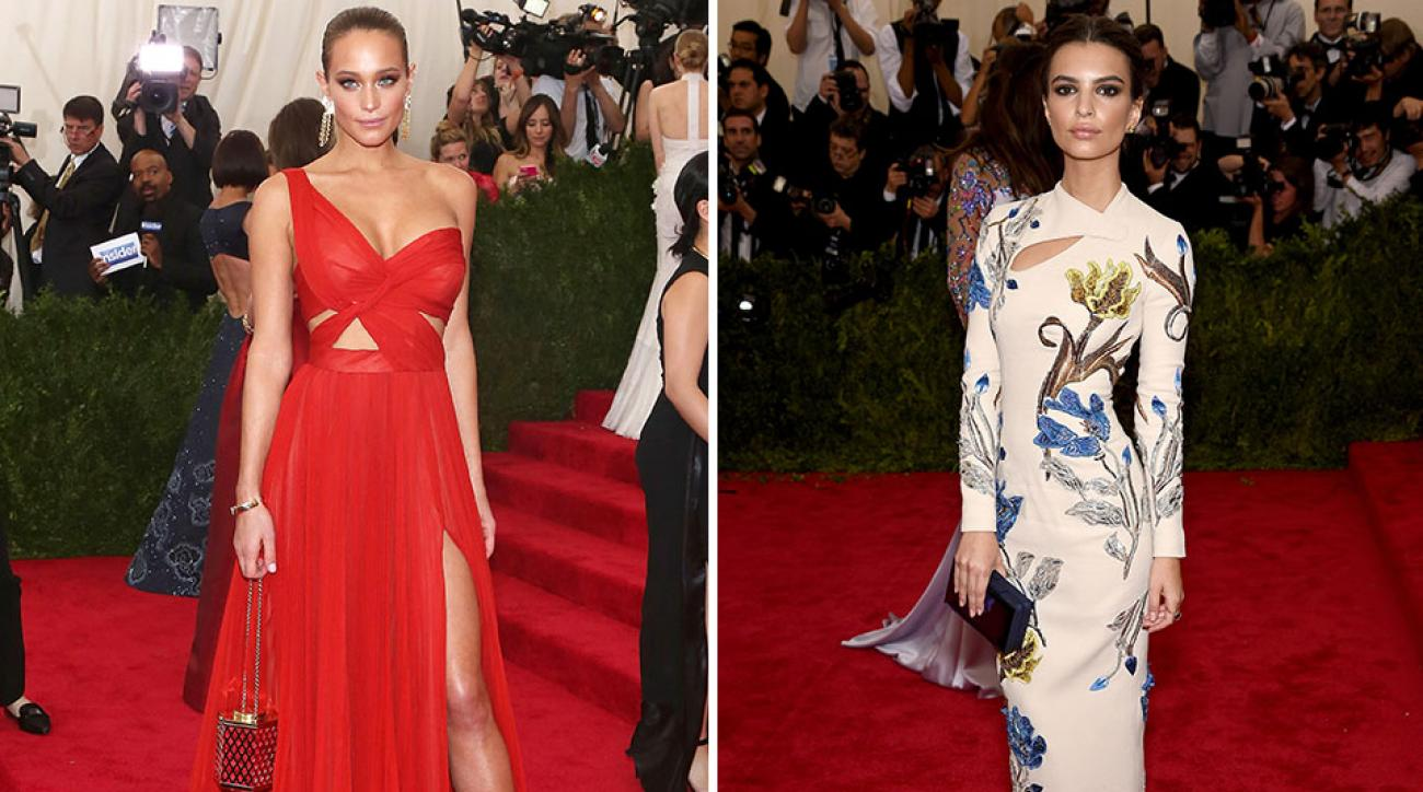 Models Hannah Davis and Emily Ratajkowski attend the 'China: Through The Looking Glass' Costume Institute Benefit Gala at the Metropolitan Museum of Art.