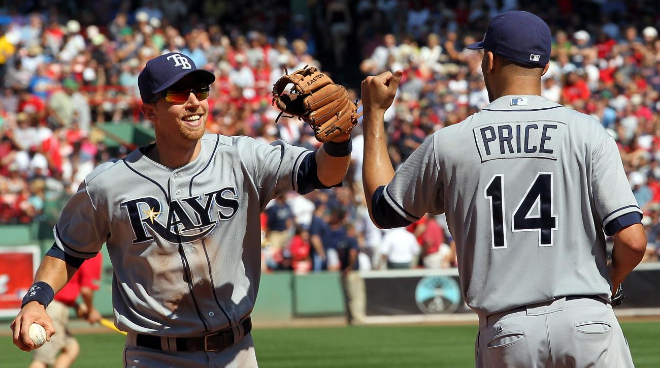 The Rays' Ben Zobrist (left) and David Price are at the forefront of MLB trade rumors approaching the July 31 non-waiver trade deadline.