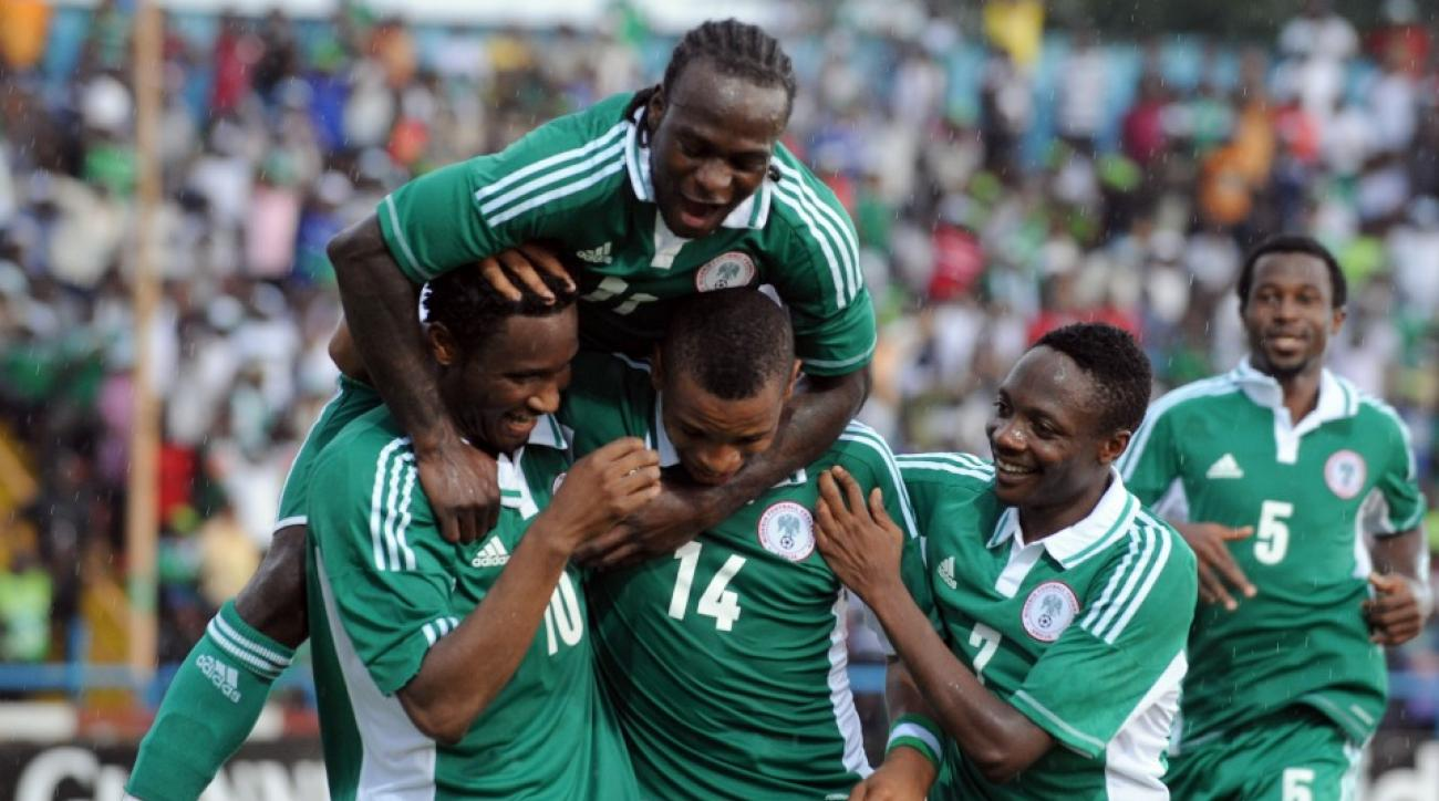 Nigeria celebrates during the 2013 Africa Cup of Nations tournament.