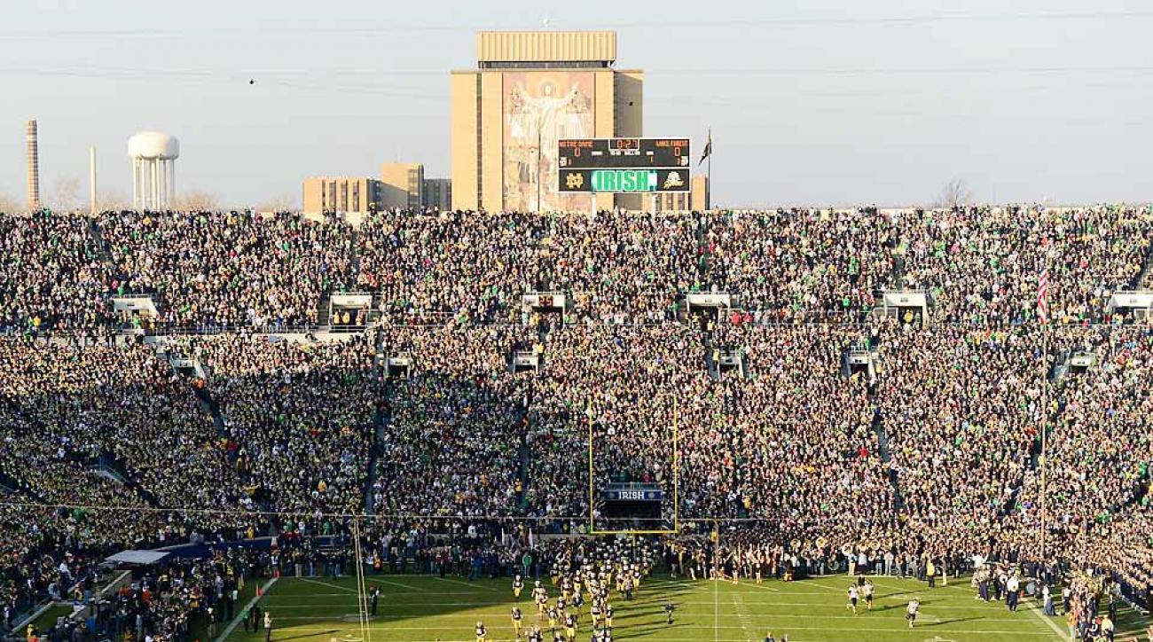 Notre Dame Stadium opens new look