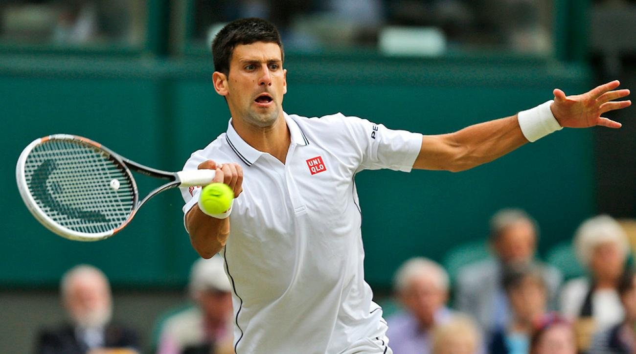 Novak Djokovic gave a close call to Radek Stepanek, but on the final point of the match, a close call went Djokovic's way.
