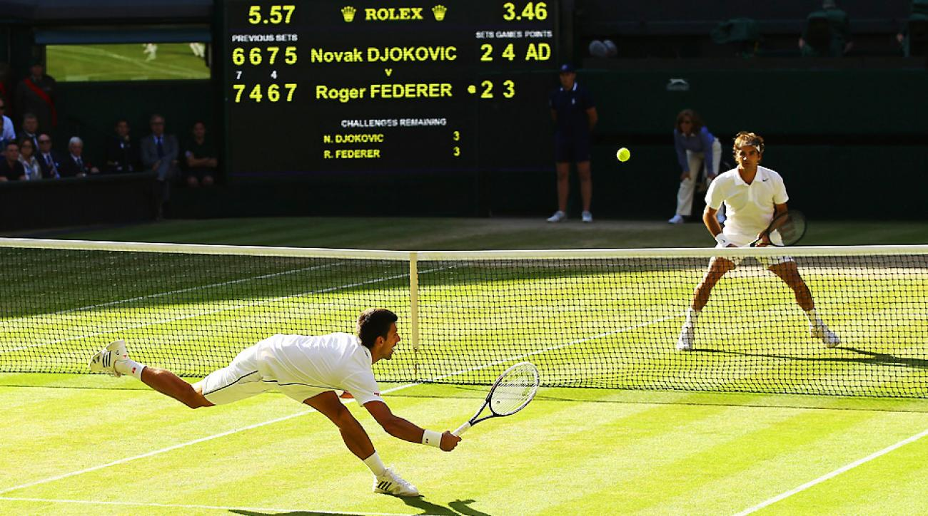 Novak Djokovic and Roger Federer faced off in the Wimbledon final in one of the best men's matches of the season so far.