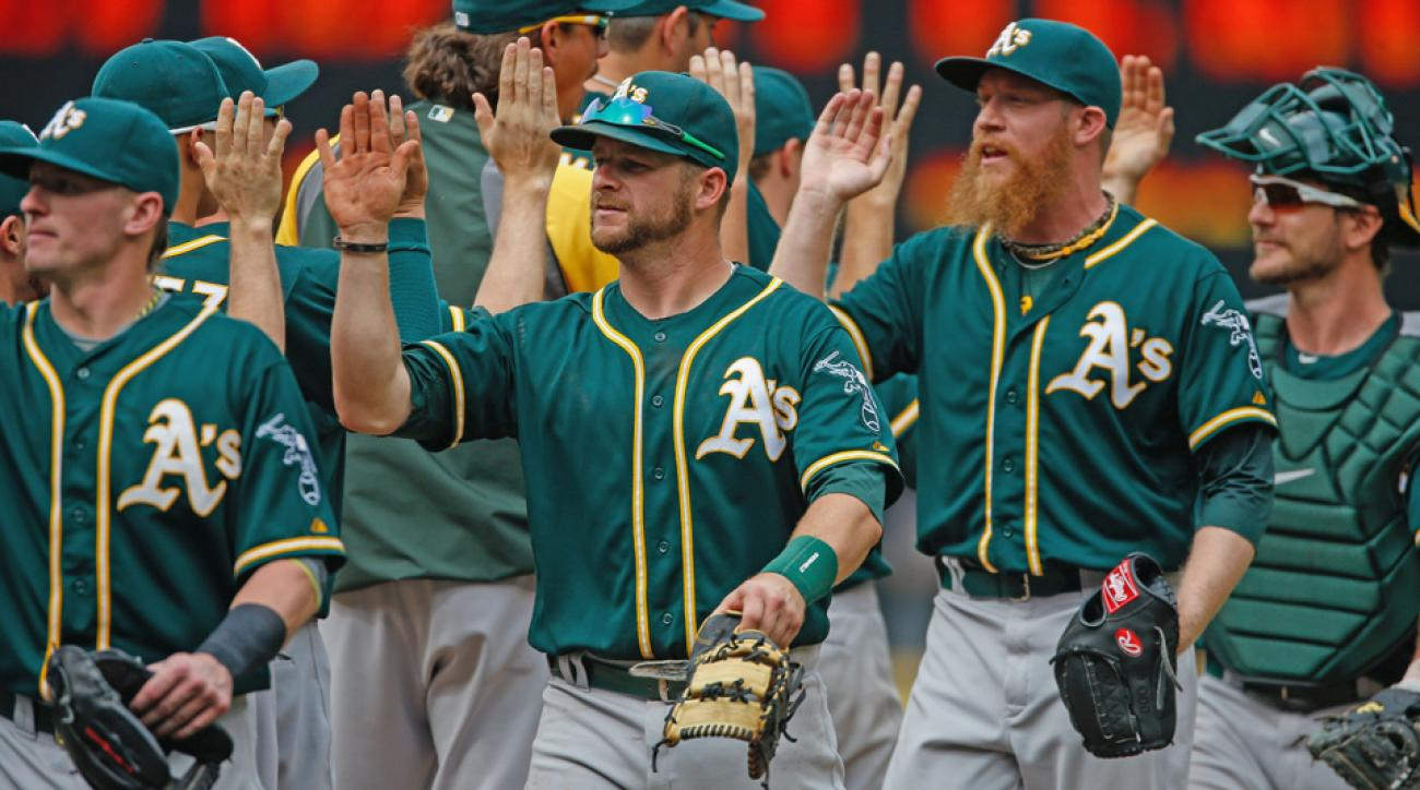 Oakland goes into the All-Star break with 59 wins, the most in baseball, but has just a 1 1/2-game lead in the AL West.
