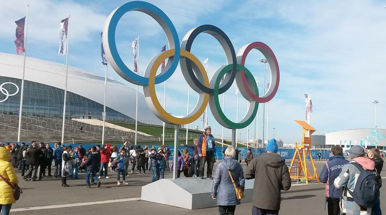 The Olympic Park is a popular destination for fans in between and on their way to and from events at the Sochi Games.