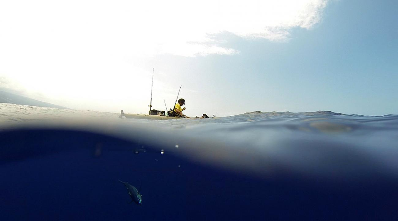 Pacific warriors inside the adventure of kayak fishing in for Kayak fishing hawaii