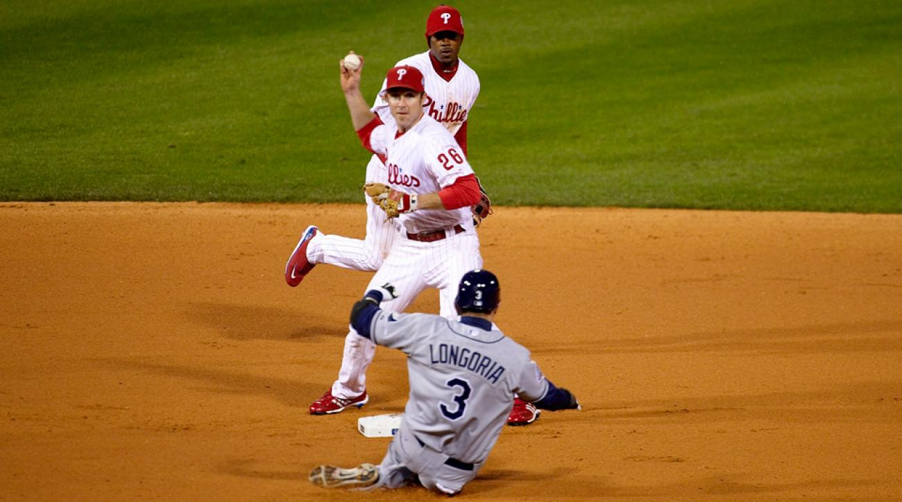 Chase Utley, Jimmy Rollins and Evan Longoria remain from the Rays and Phillies teams of the 2008 World Series.