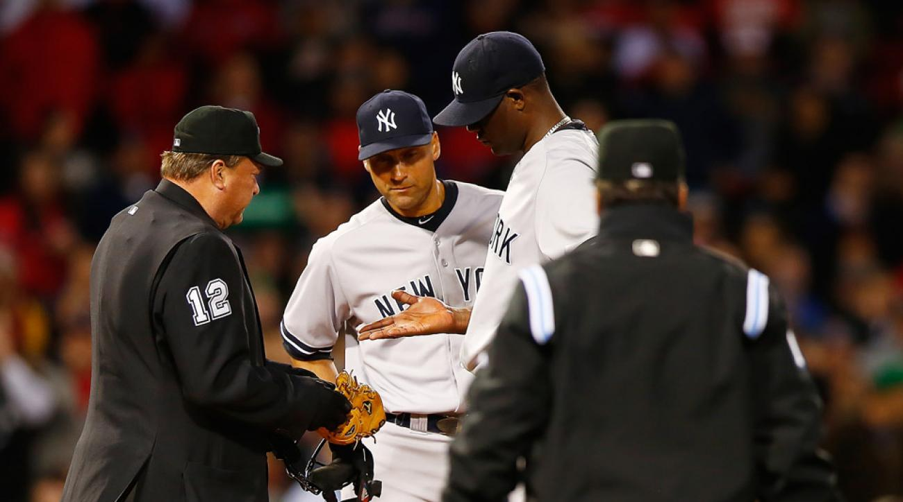 New York Yankees pitcher Michael Pineda had another run in with umpires after he was found to be using pine tar for a second time in merely a month.