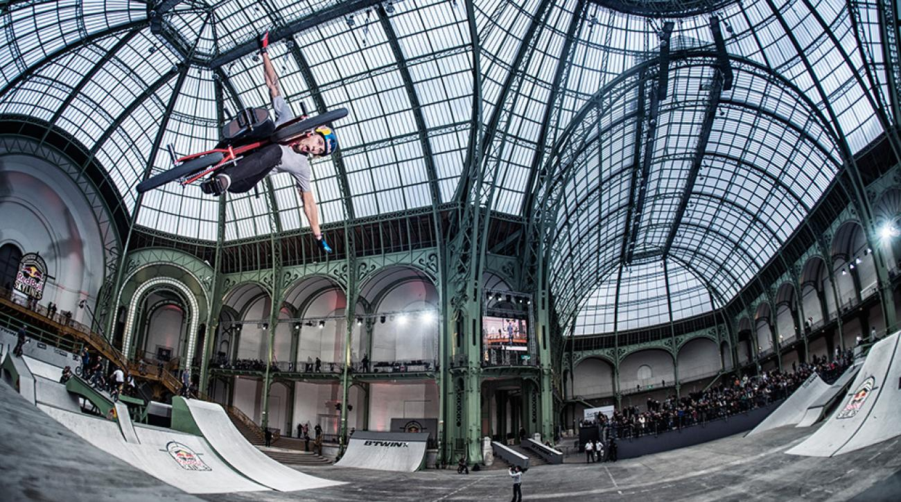 Michael Beran performs at Red Bull Skylines, an event where ramp-builder Nate Wessel supplied the opportunity just for tricks like these.