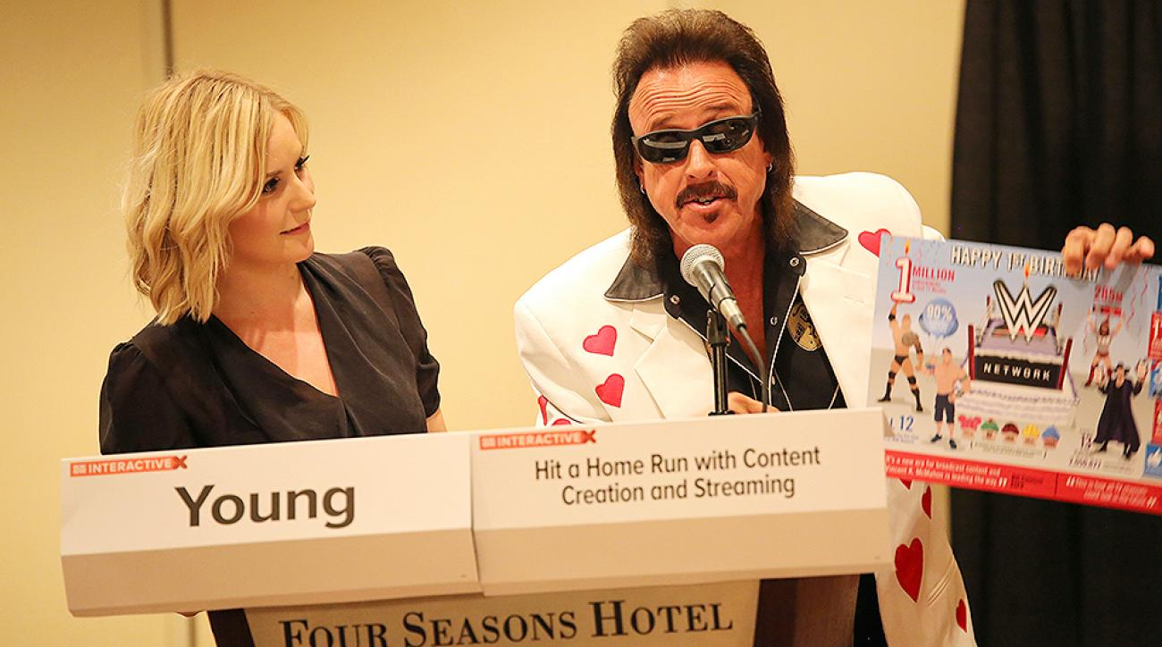 Renee Young and WWE manager Jimmy Hart