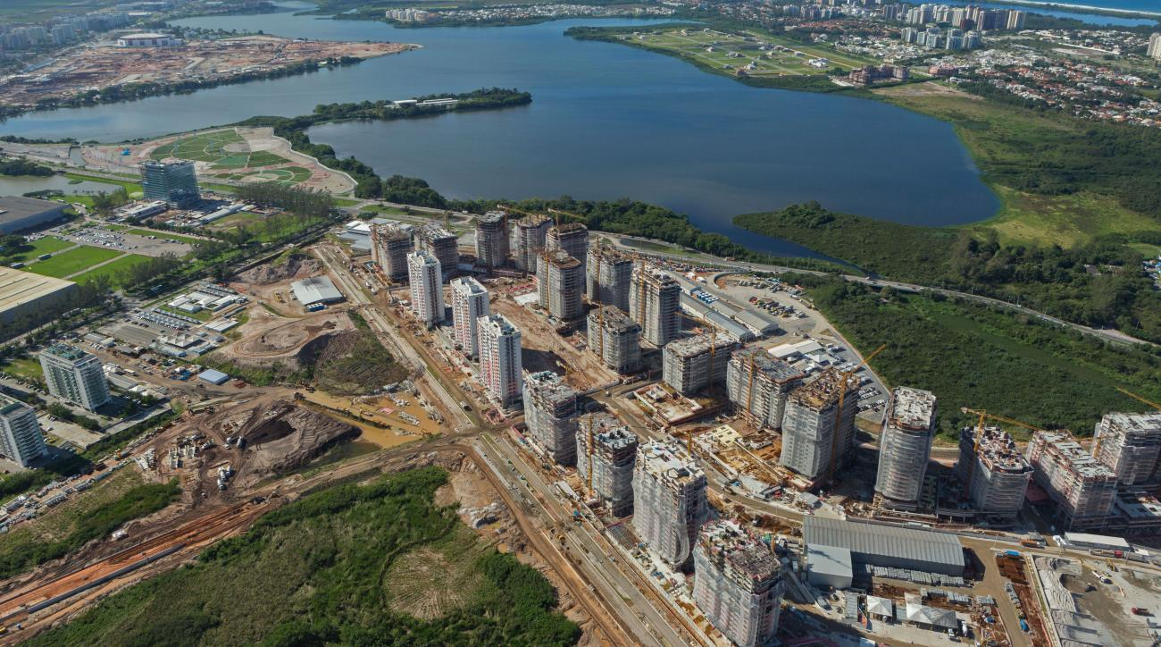 The Rio 2016 Olympic Village as of July 2014.