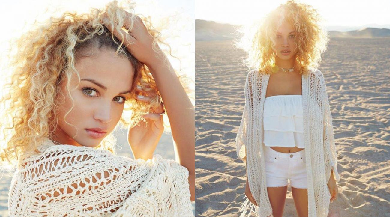 Rose Bertram soaks up the sun in the new Garage Clothing campaign