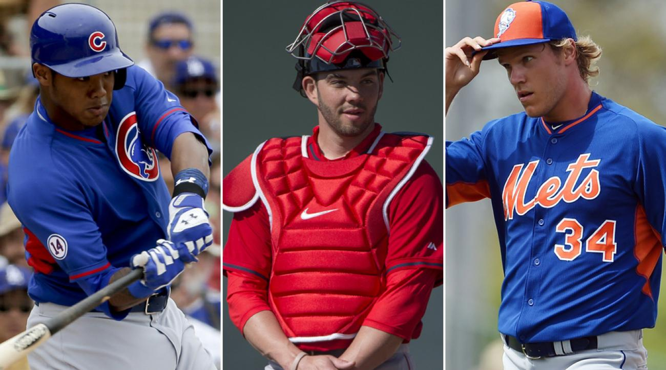 L to R: Cubs prospect Addison Russell, Red Sox prospect Blake Swihart, Mets prospect Noah Syndergaard