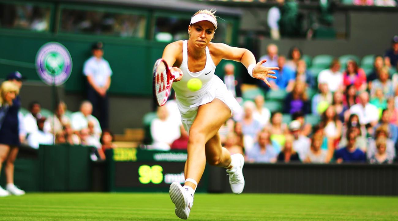 Sabine Lisicki had few problems against Julia Glushko, beating the Israeli 6-2, 6-1.