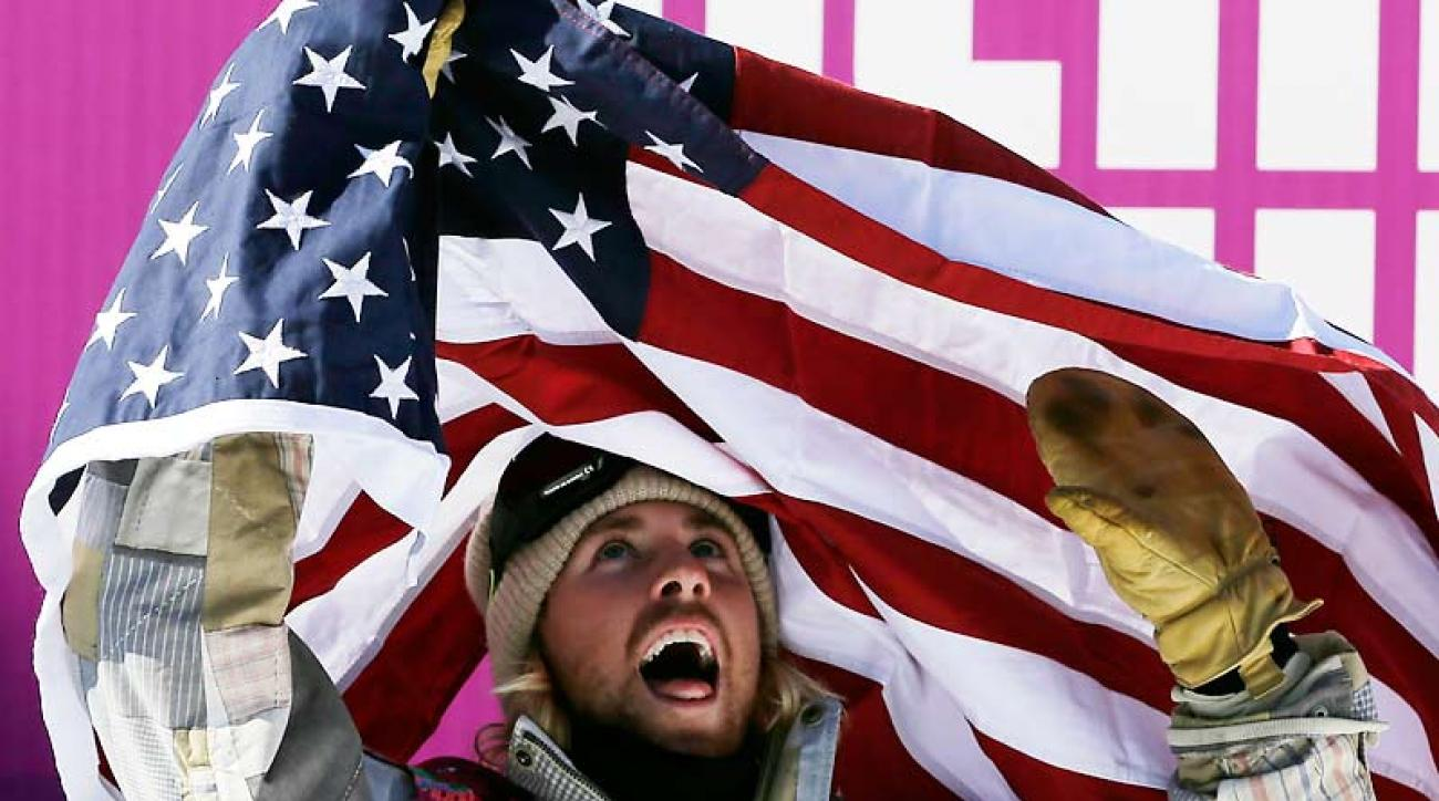 American Sage Kotsenburg celebrated an unexpected gold medal in the snowboard slopestyle competition.