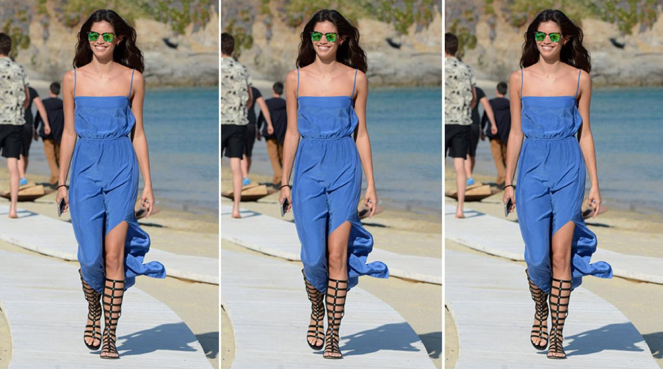 Sara Sampaio at the Replay SS16 fashion show in Mykonos, Greece