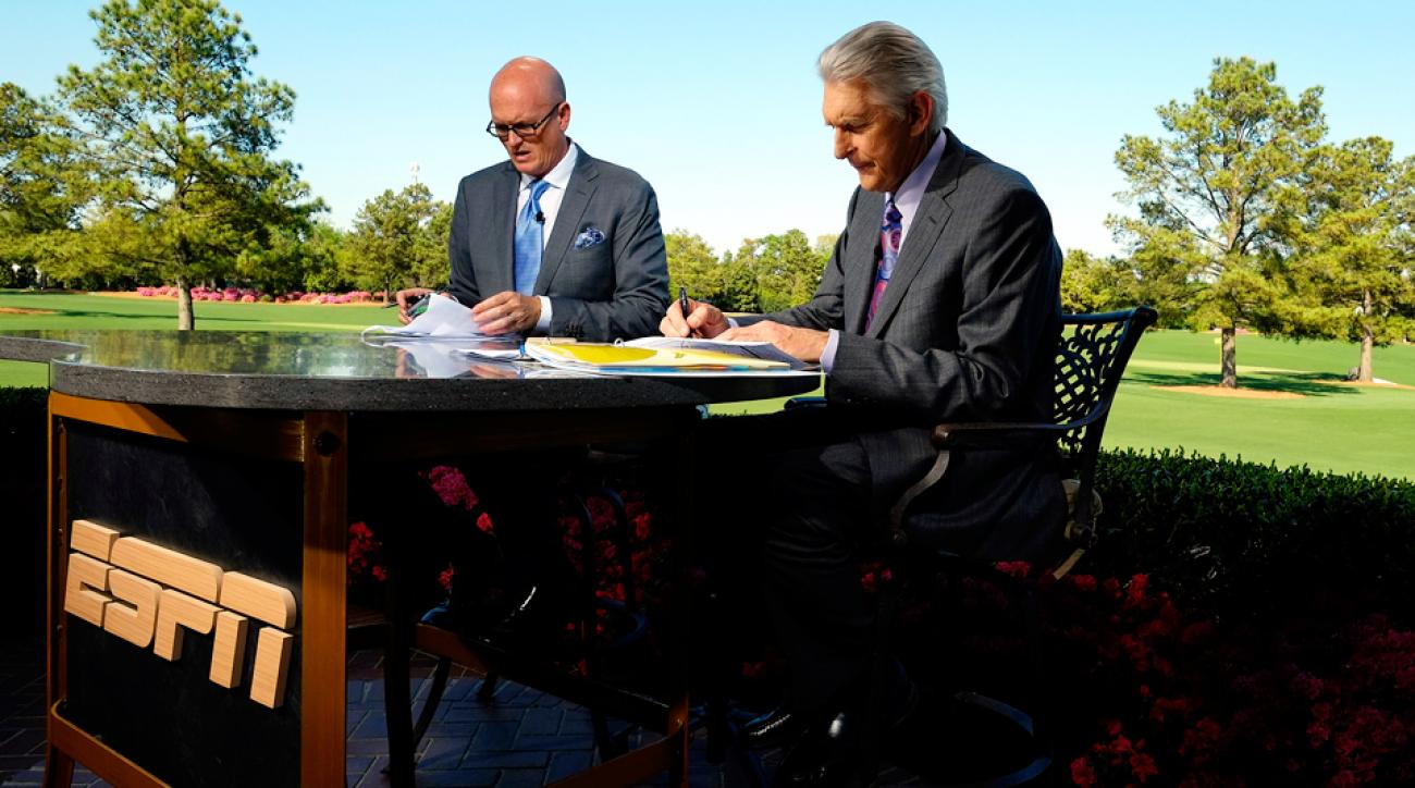 ESPN's Scott Van Pelt and Andy North at the 2013 Masters.