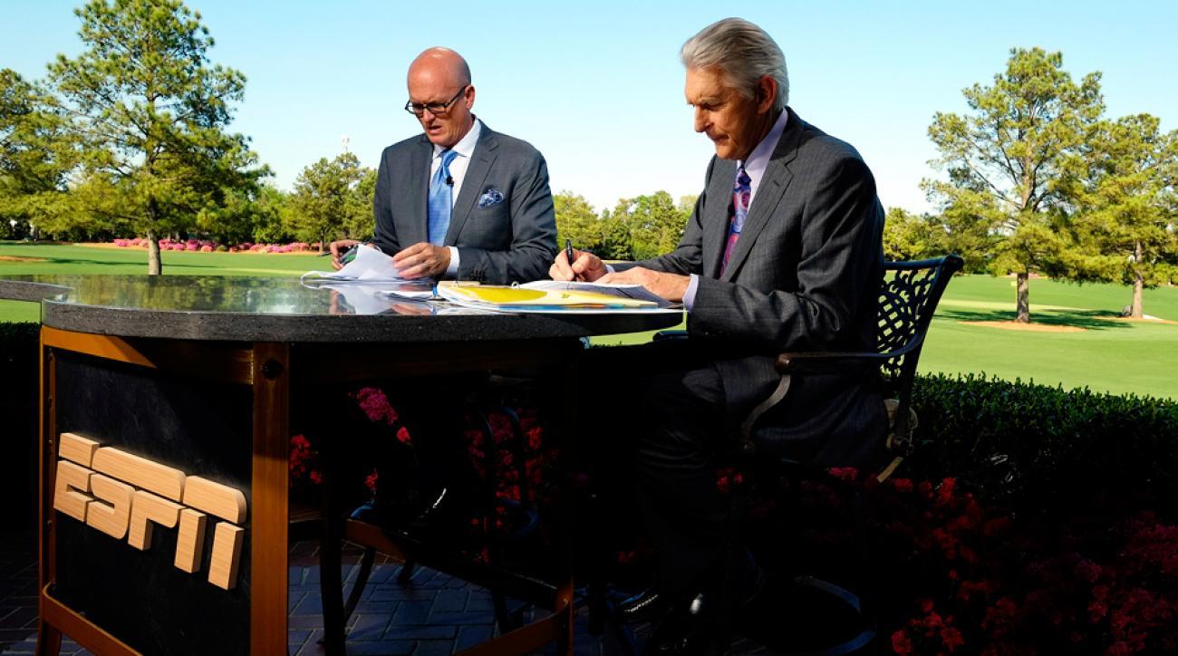 ESPN's Scott Van Pelt and Andy North at the 2013 Masters.