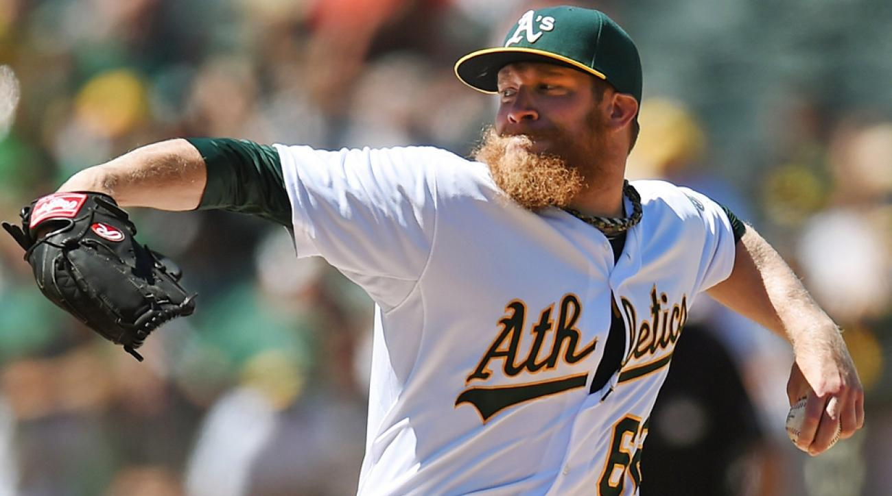 Oakland Athletics closer Sean Doolittle has not allowed a run since April 26 and has walked only one batter all season against 53 strikeouts.