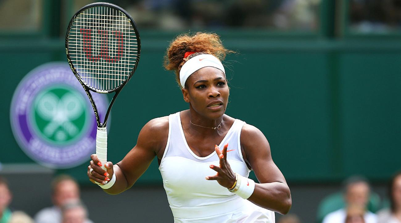 Serena Williams is looking to win her sixth Wimbledon title.