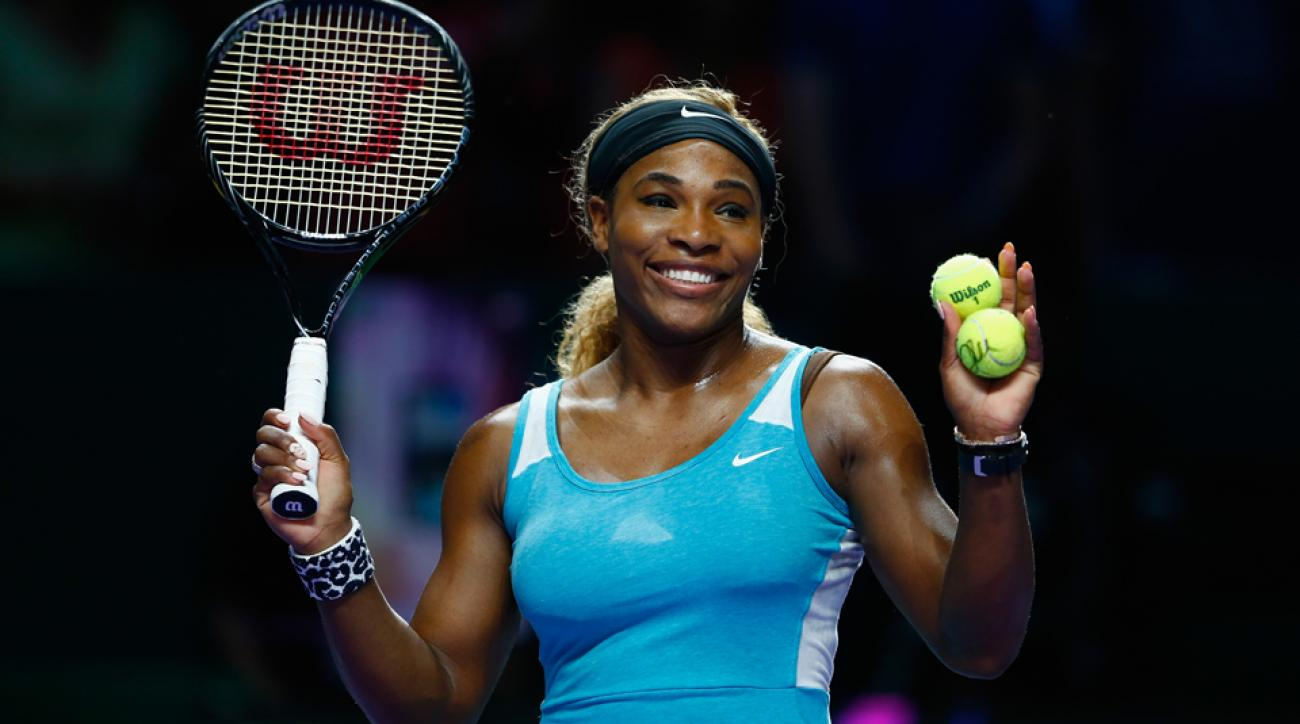 Serena qualified for the semifinals at the WTAFinals as Simona Halep took the second set over Ivanovic.