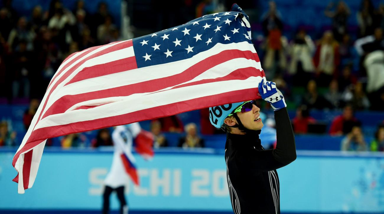 The men's 5,000-meter relay won the U.S. its first speed skating medal of the Olympics.