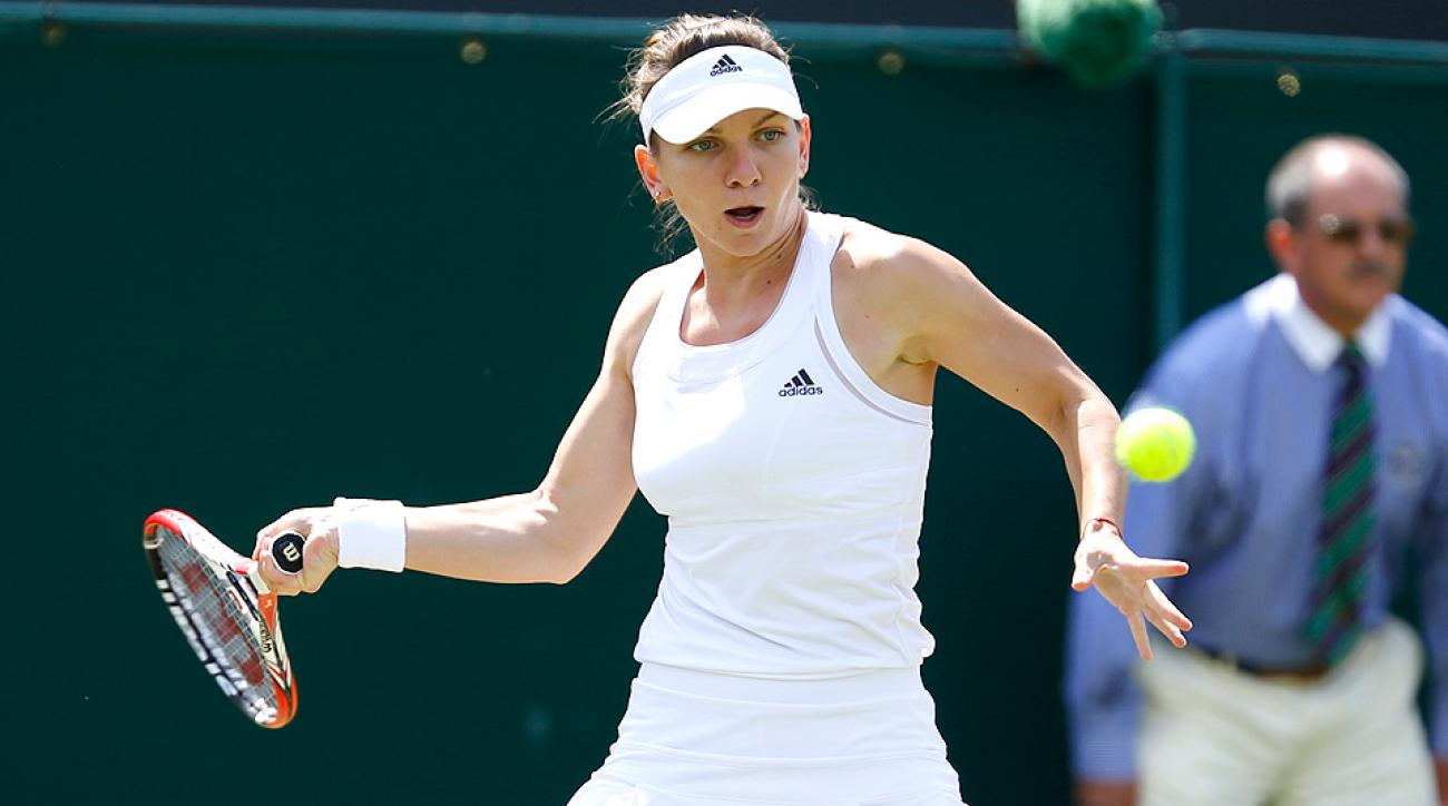 Simona Halep had no problems dispatching Zarina Diyas, and will face Wimbledon runner-up Sabine Lisicki next.