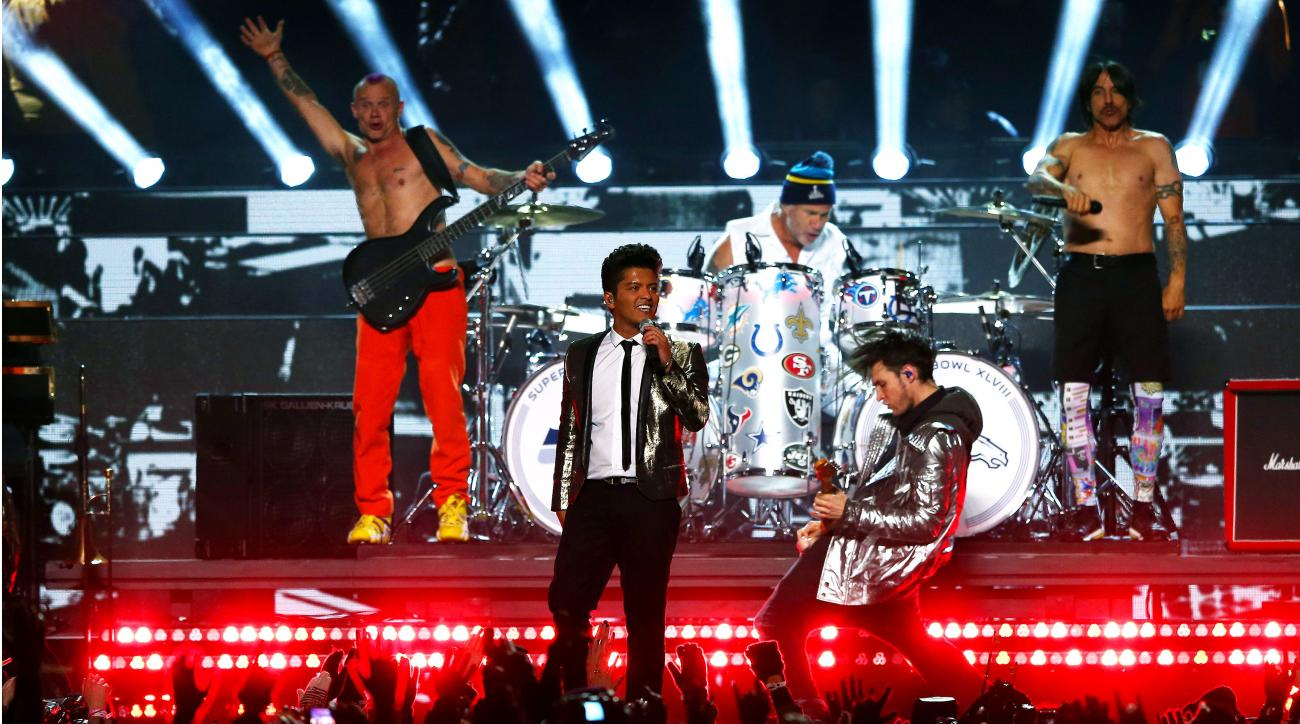 Bruno Mars and the Red Hot Chili Peppers performed during last season's halftime show.