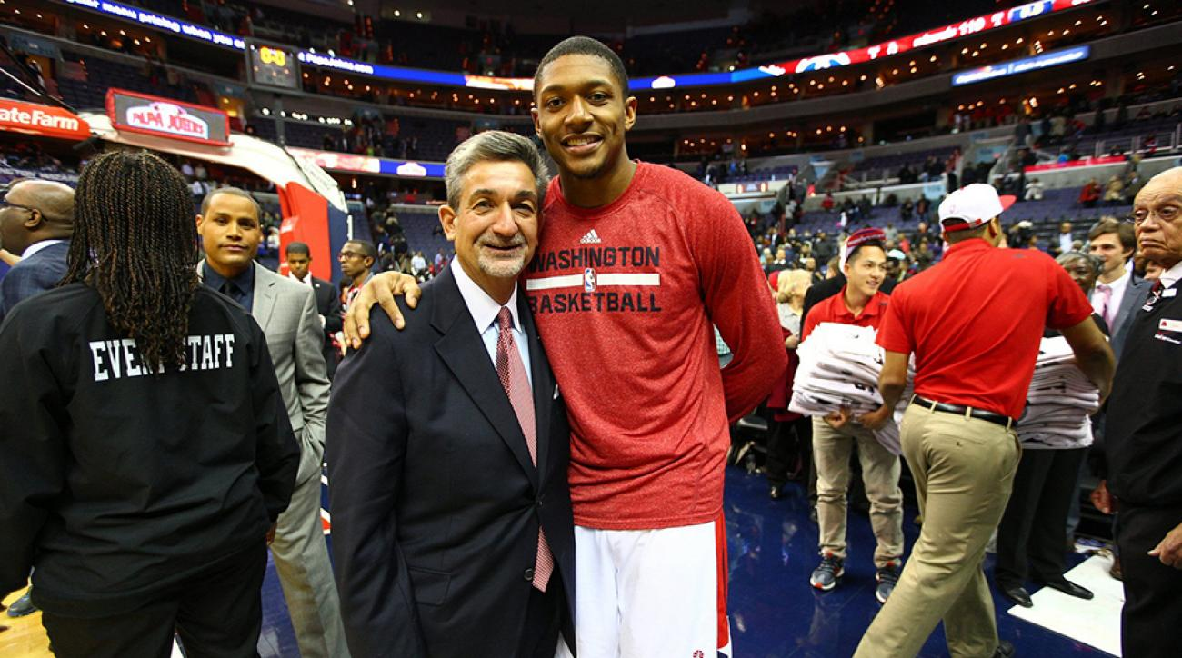 Washington Wizards owner Ted Leonsis with star guard Bradley Beal.