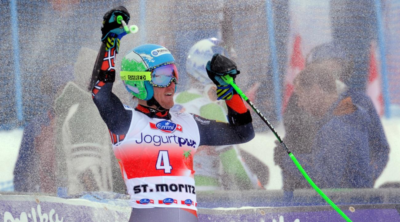 Ted Ligety, the 2006 gold medalist, won a World Cup giant slalom in Switzerland on Sunday.