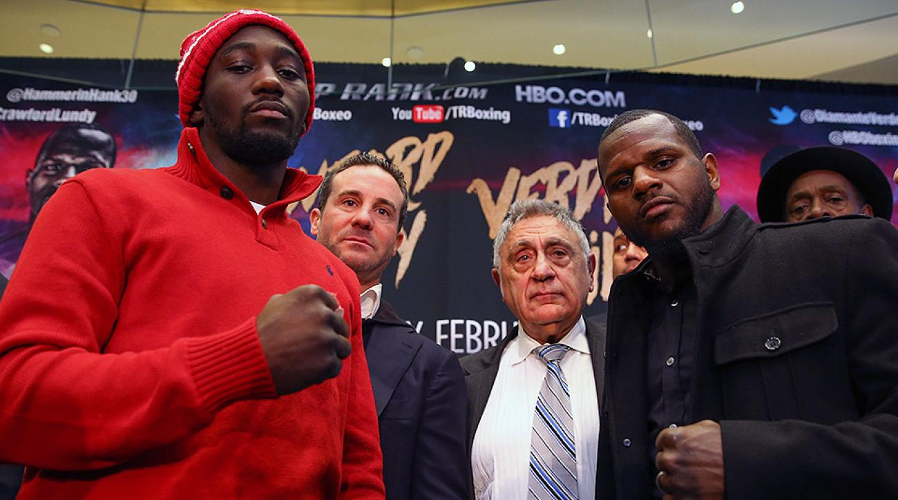 Terence Crawford and Hank Lundy at Madison Square Garden.