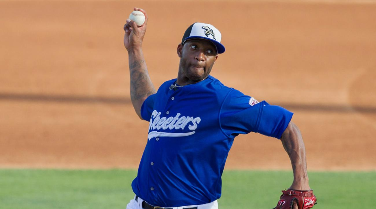 The ex-NBA star has had trouble crossing over to professional baseball, with his first pitching debut ending after just over an inning with McGrady giving up two earned runs on just two hits.