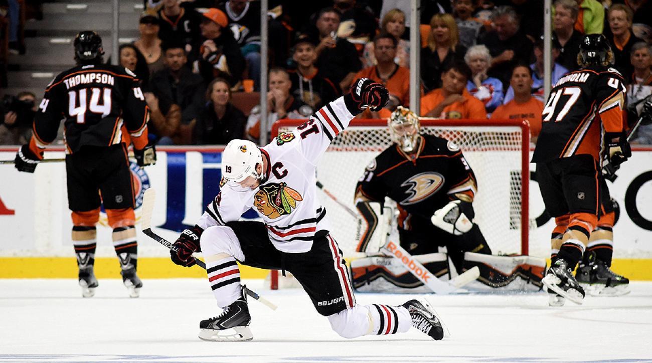 739f71acdeb Blackhawks brave Ducks  punishment to take Stanley Cup finals berth