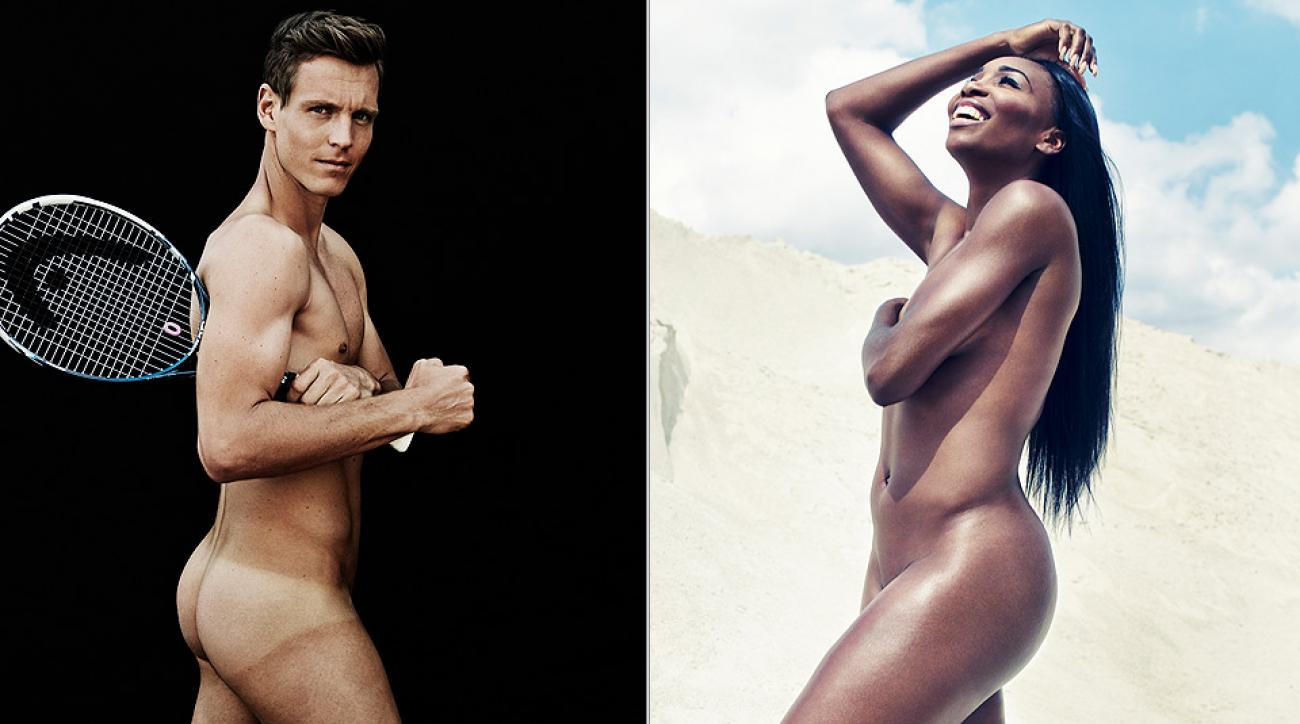 Tomas Berdych and Venus Williams strike their best poses for the ESPN the Magazine Body Issue.