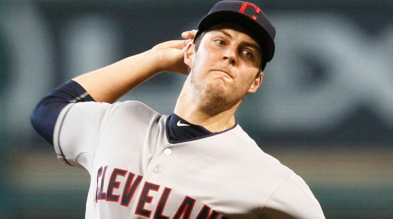 Cleveland's Trevor Bauer went six no-hit innings against the Astros in his 2015 season debut.