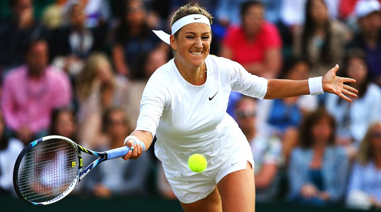 Victoria Azarenka earned her first match victory since January in the first round of Wimbledon on Monday.
