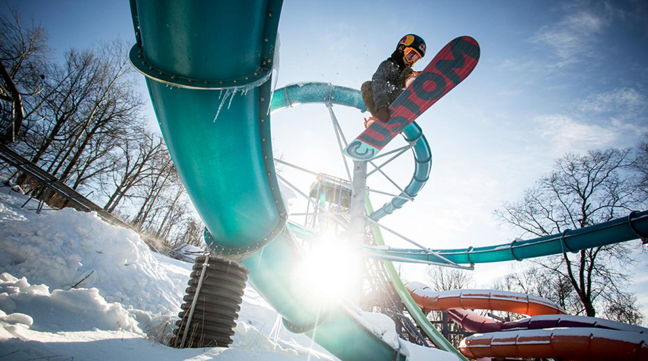 Snowboarders take over Action Park in New Jersey.