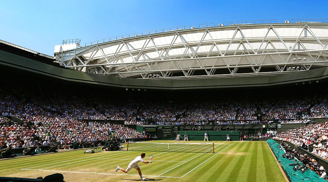 Andy Murray (bottom) will kick off his Wimbledon title defense on June 23.