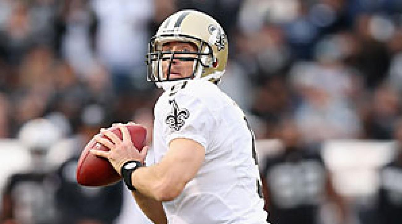 After throwing seven interceptions in his last two games, Drew Brees should be in for a more productive day versus the Buccaneers.