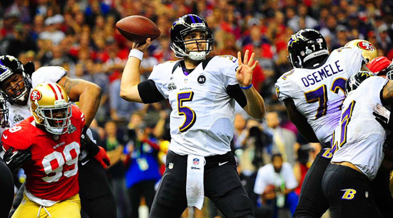 Ravens QB Joe Flacco finished with 11 touchdown passes and no interceptions over four playoff games.