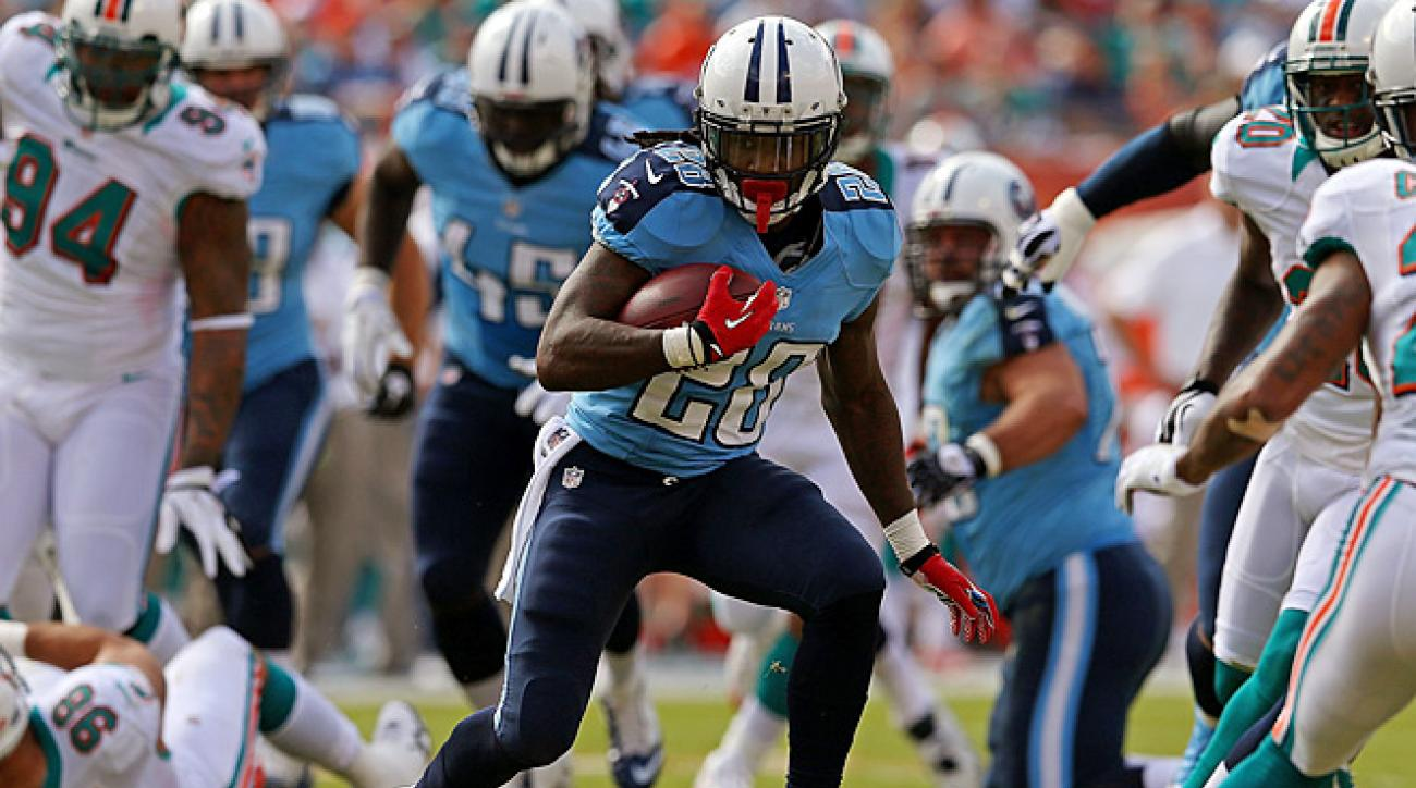 With better line play, Chris Johnson could improve the 4.5 yards per carry he averaged last season.
