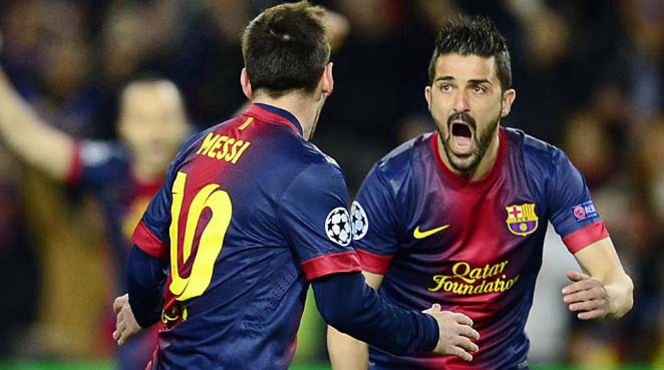 Lionel Messi, David Villa and Barcelona will learn their quarterfinal opponent on Friday.