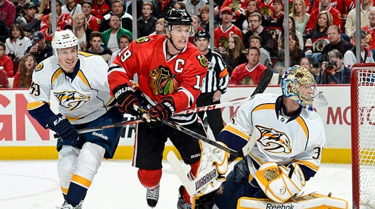 Jonathan Toews and the Blackhawks were fastest out of the gate and the first to grab a playoff berth.