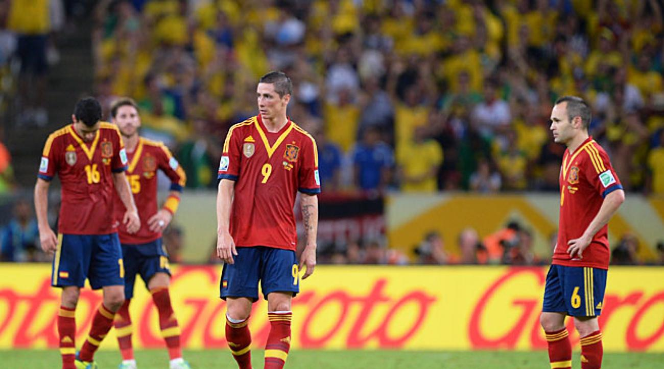 Spain was left looking for answers after losing 3-0 to Brazil in the Confederations Cup final on Sunday.