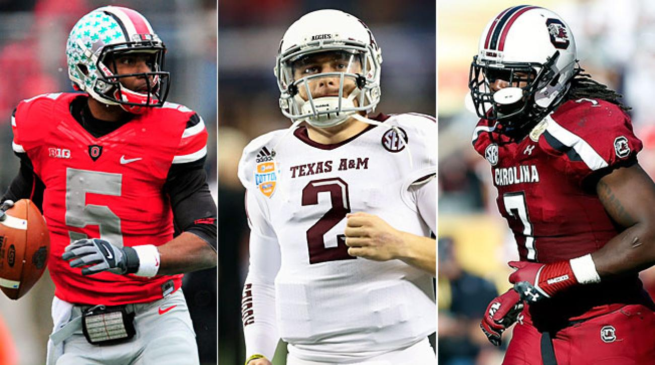 Braxton Miller (left), Johnny Manziel (center) and Jadeveon Clowney enter 2013 with high expectations.