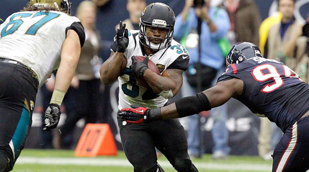 Maurice Jones-Drew had his best game of the season against the Texans, rushing for 84 yards and a TD.