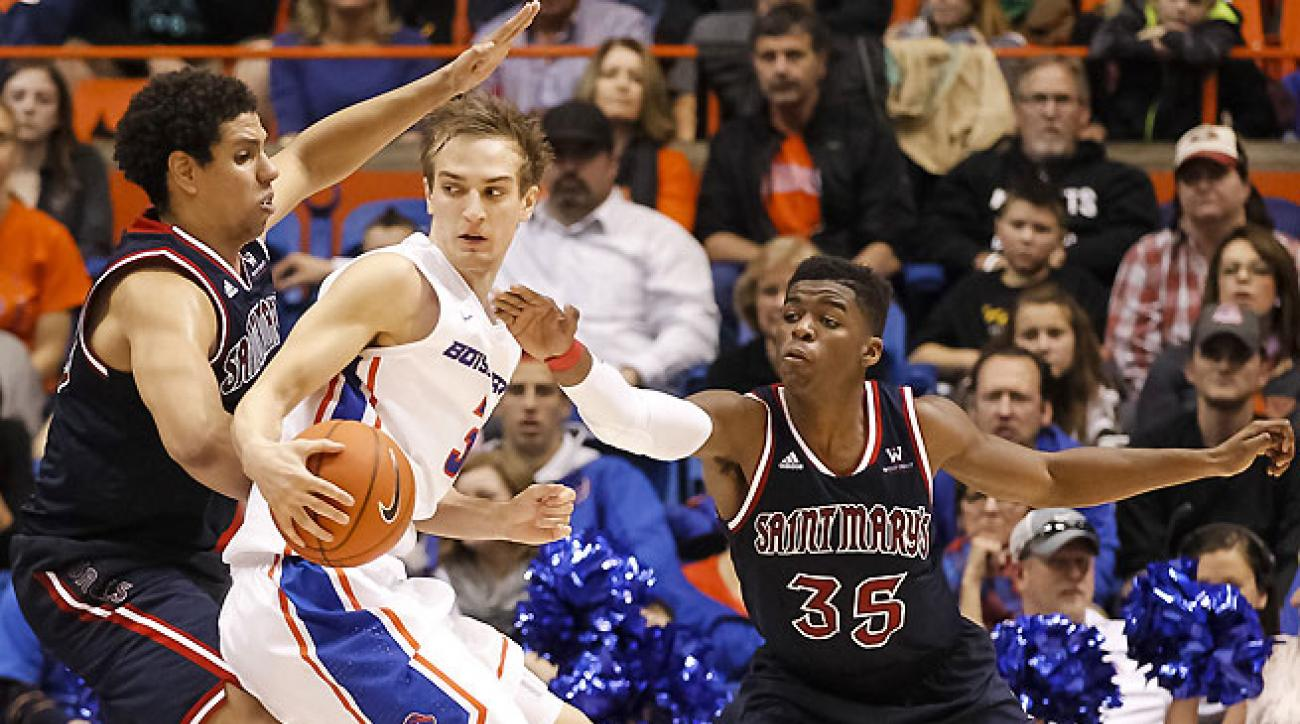 Brad Waldow (left) has been one of St. Mary's best defenders, blocking two shots a game.