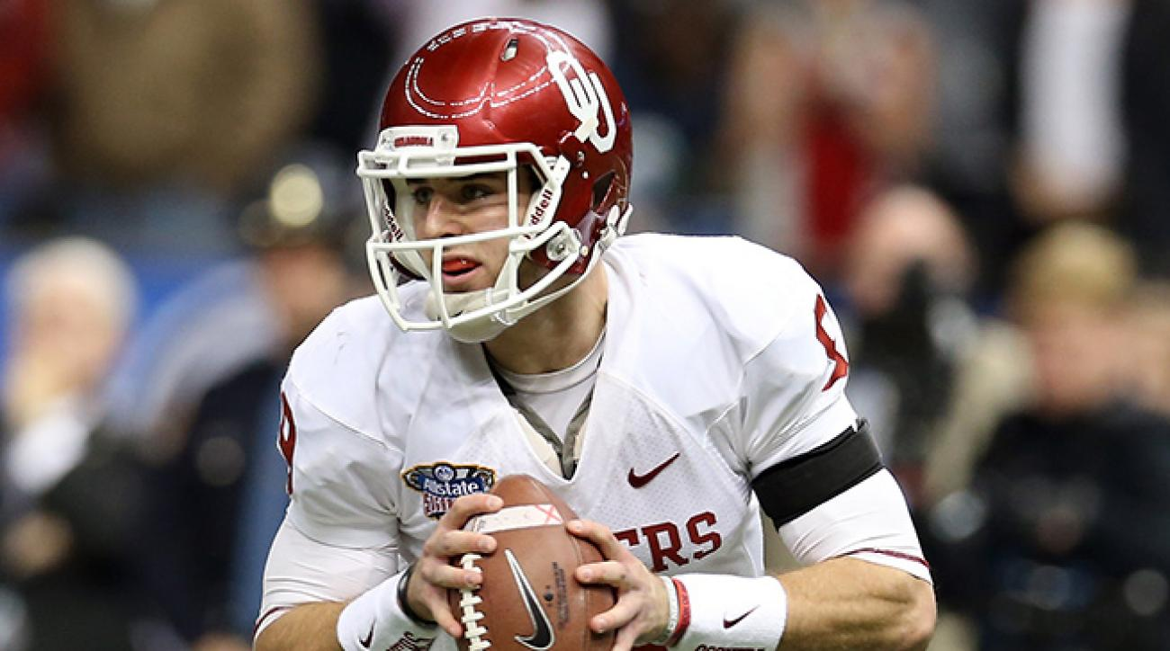 Trevor Knight threw for four touchdowns to lead Oklahoma to an upset of Alabama in the Sugar Bowl.