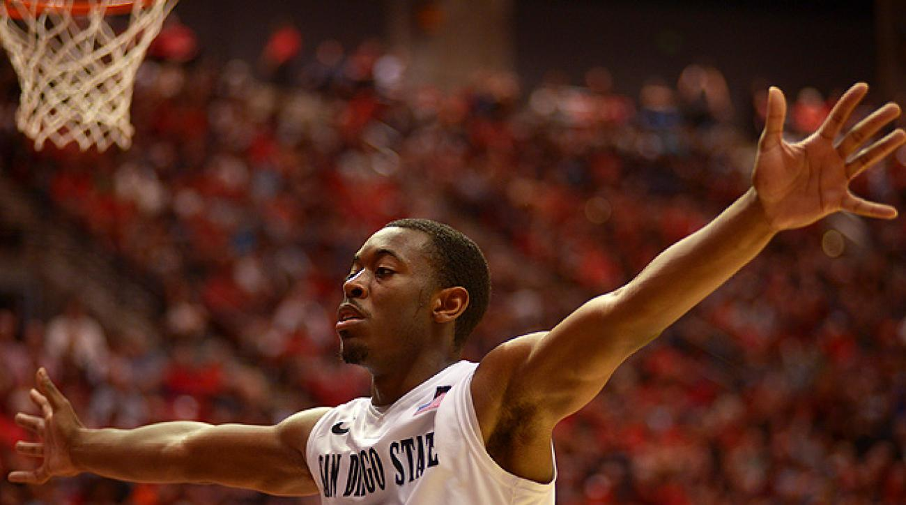 Xavier Thames prepares to make last-second shots at the end of every San Diego State practice.