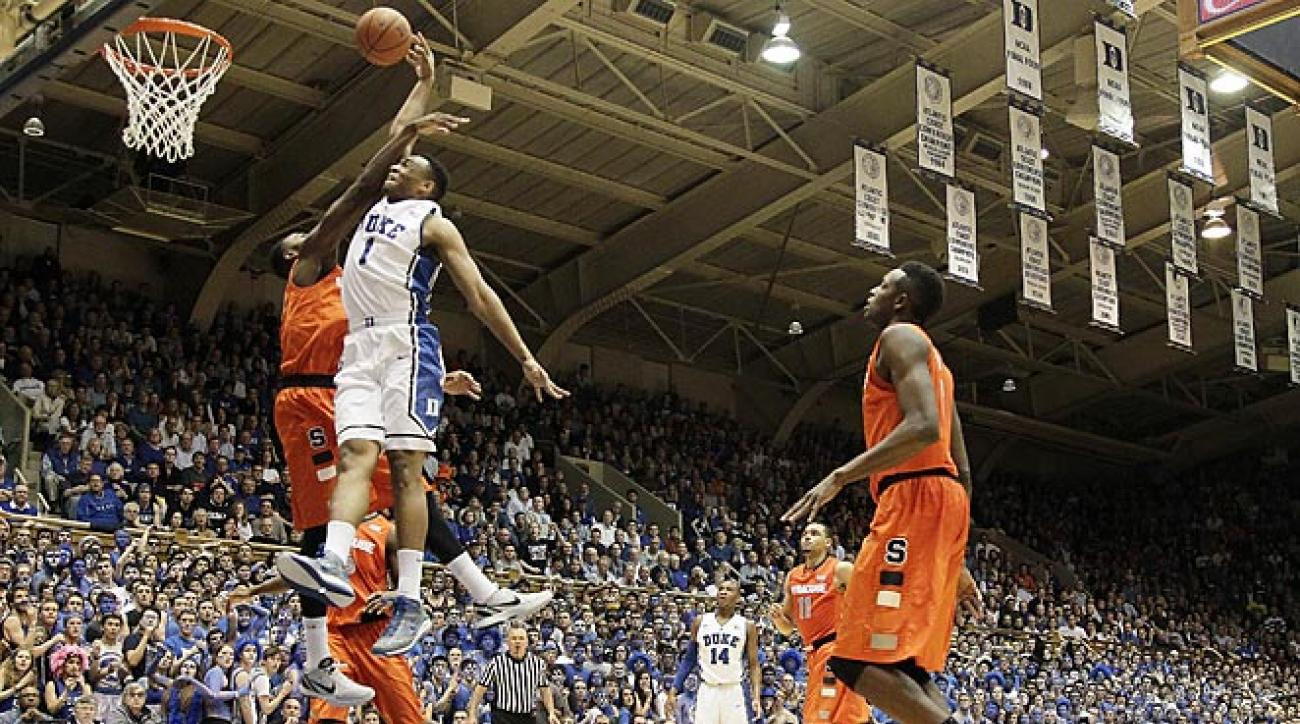 Jabari Parker led both teams with 19 points ant 10 rebounds in Duke's thrilling win over Syracuse.